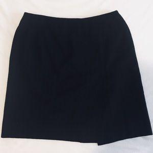 Ralph Lauren Pinstripe Wool Skirt Petite